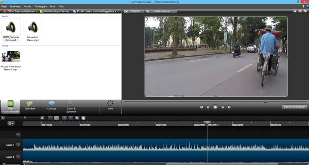 Bildschirm-Videos mit Camtasia-Studio