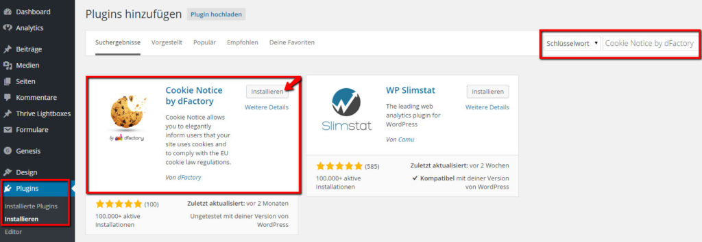 Cookie-Hinweis-Wordpress-Plugin-installieren