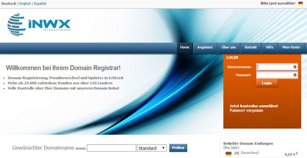 InterNetworX - Domain-Hoster