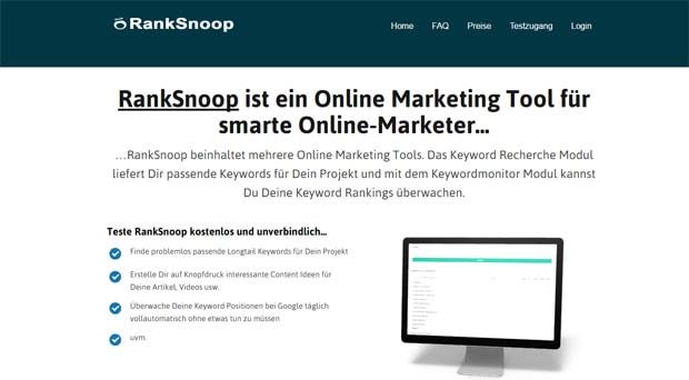Ranksnoop - Keywordrecherche