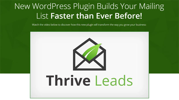 ThriveLeads Listbuilding WordPress Plugin