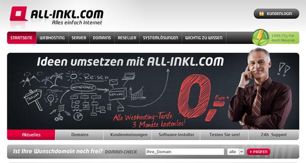 All-Inkl - Webhosting meiner Wahl