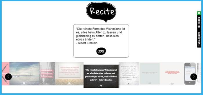 Schöne Zitate mit Recite erstellen