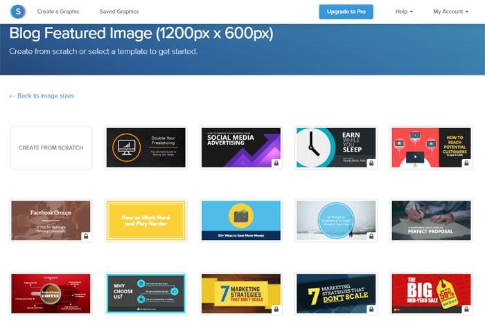 Snappa-Vorlagen zur Erstellung von Bildern und Grafiken