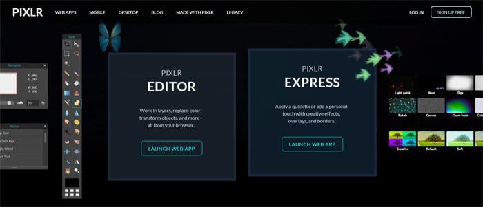 PIXLR - Bildbearbeitungs-Programm als kostenloser Photoshop-Alternative