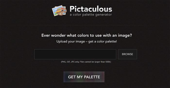 Pictaculous für zu den Bildern passende Farb-Paletten