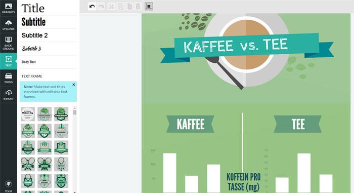 Piktochart Infografik bearbeiten und anpassen