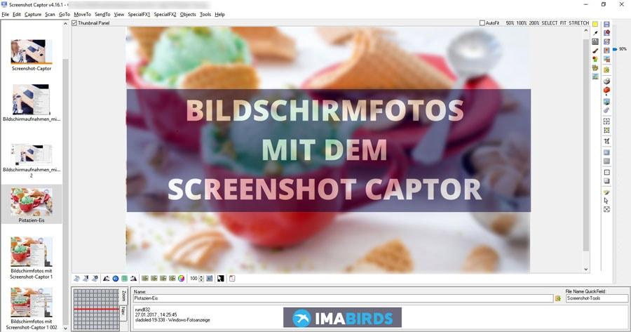 Bildschirmfotos machen mit dem Screenshot-Captor