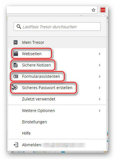 LastPass für sichere Passwörter, Notizen, Software-Lizenzen und mehr