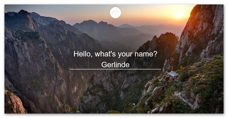 Momentum Erweiterung - Namen für persönliche Ansprache