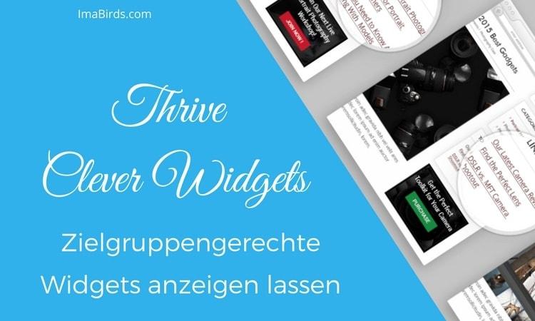 Thrive Clever Widgets - Zielgruppengerechte Widgets anzeigen lassen