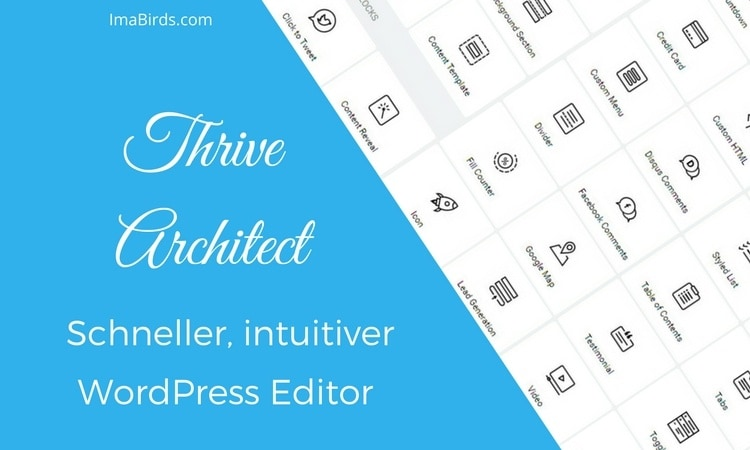 Thrive Architect Plugin von Thrive Themes