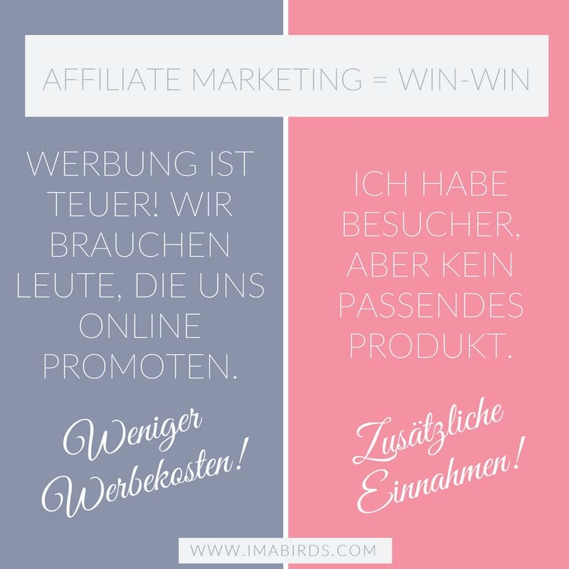 Affiliate Marketing WIN-WIN-Situation für Vendor und Affiliate
