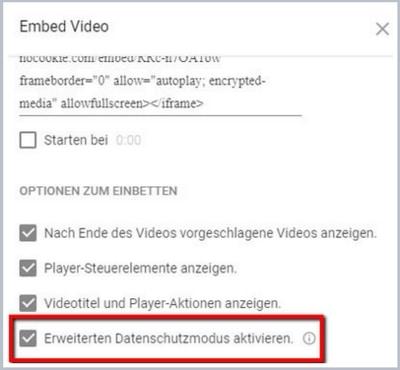 Wie du YouTube-Videos datenschutzkonform einbettest