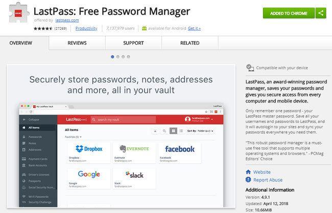 LastPass - Kostenloser Passwort-Manager als Chrome Erweiterung