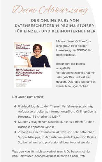 Online-Kurs zum Datenschutz von Datenbeschützerin Regina Stoiber
