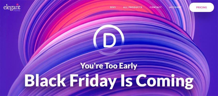 Black Friday bei DIVI und Elegant Themes