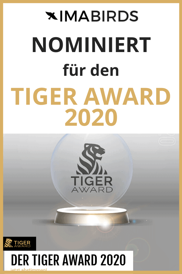 ImaBirds nominiert für den Tiger Award 2020
