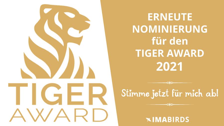 Erneute Nominierung für den Tiger Award 2021 Kategorie Content Creator 2021